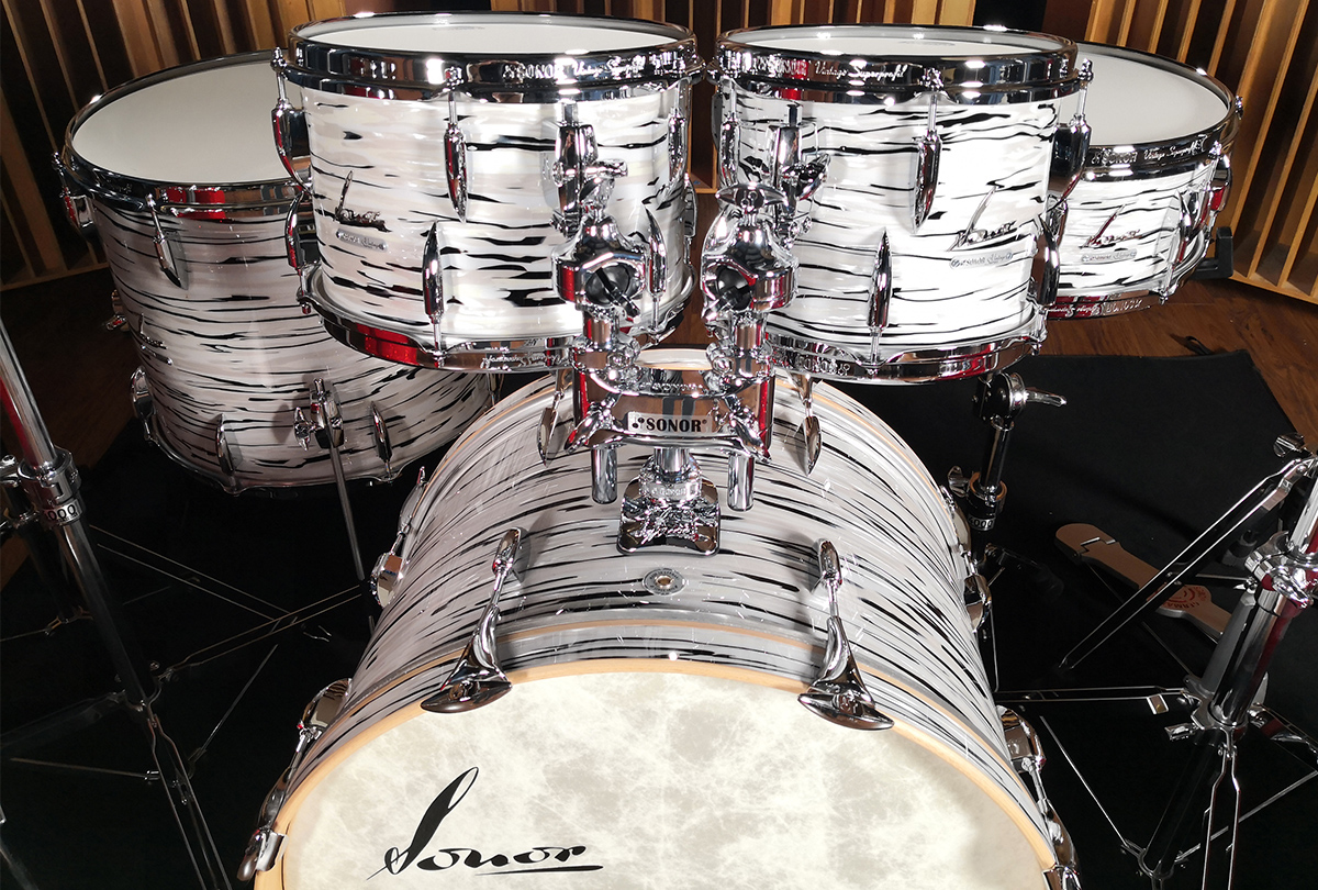 SONOR VINTAGE SERIES LIMITED EDITION PER L'ITALIA IN FINITURA WHITE OYSTER