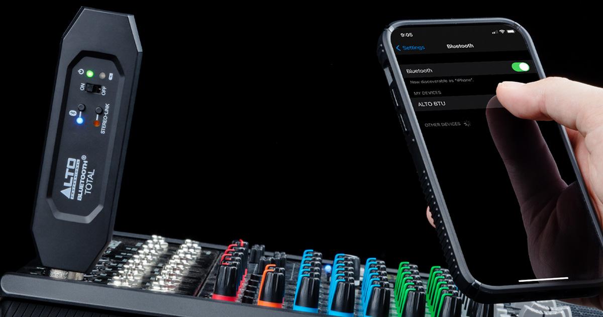 Collega l'audio del tuo computer, smartphone o tablet senza cavo, via Bluetooth a qualsiasi mixer o diffusore amplificato