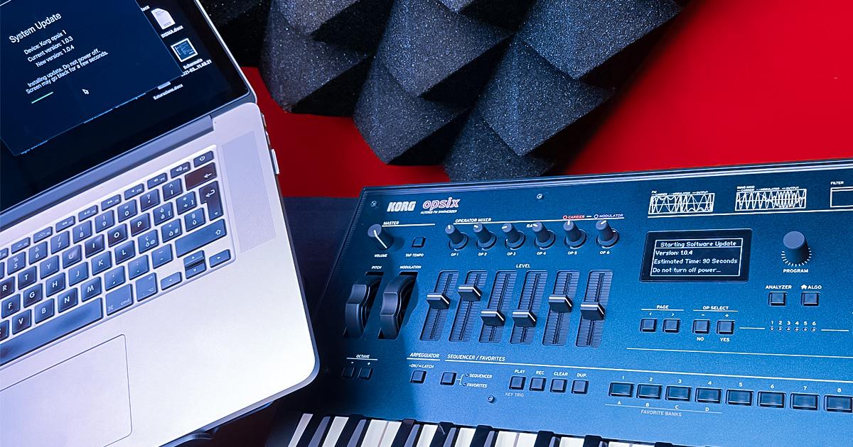 Korg Opsix aggiornamento 1.0.4 per il potente sintetizzatore che espande all'infinito gli orizzonti sonori della sintesi FM tradizionale