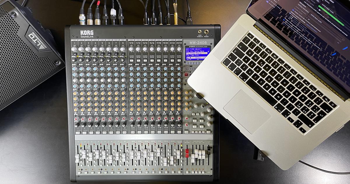 Nei mixer SoundLink MW1608 e 2408 della KORG troviamo il meglio della tecnologia analogica e digitale, preamplificatori microfonici, processori di dinamica, equalizzatori e una completa sezione DSP che provvede ad effetti di ultima generazione e funzioni studiate appositamente per l'uso dal vivo e nello streaming, dove gioca un ruolo fondamentale l'interfaccia audio USB integrata.