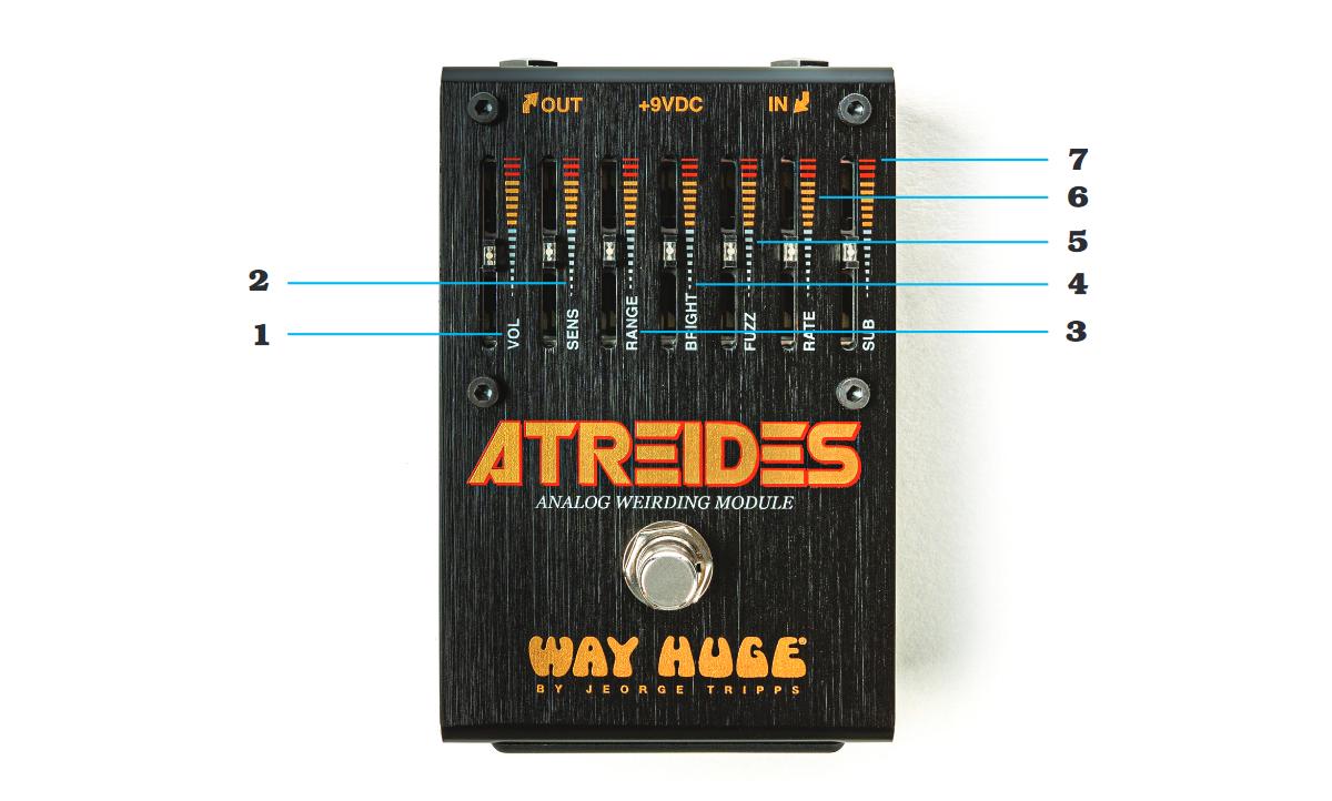 WHE900 Atreides Analog Weirding - Controlli