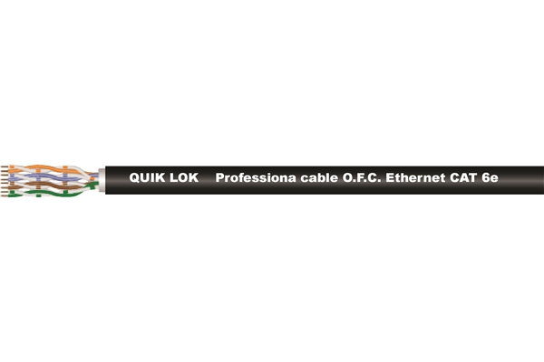 Quik Lok - ETH/1006 BK Cavo Ethernet Cat 6
