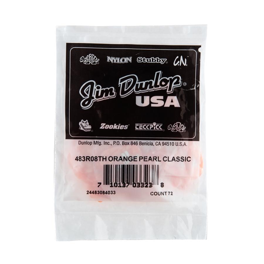 Dunlop 483R#08 Orange Perloid - Thin