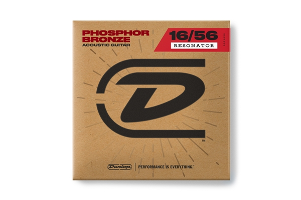 Dunlop - DOP1656 Resonator Phosphor Bronze, Set/7