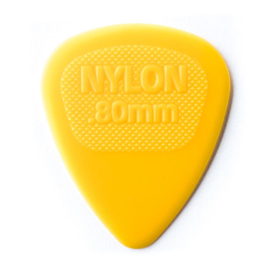 Dunlop 443R.80 Nylon Midi Yellow .80mm