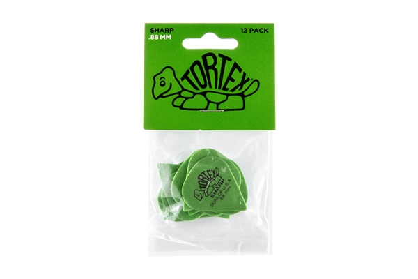 Dunlop - 412P Tortex Sharp Green .88