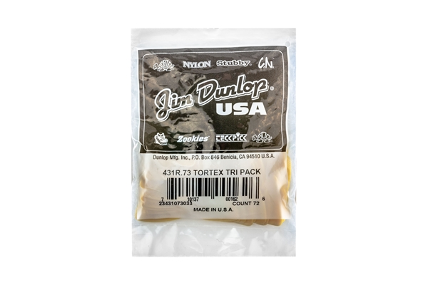 Dunlop - 431R Tortex Triangle Yellow .73