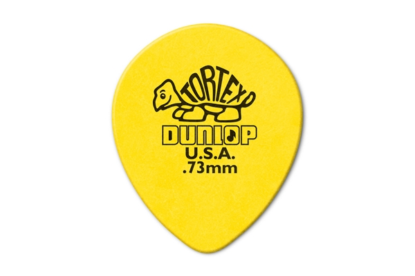 Dunlop - 413R Tortex Tear Drop Yellow .73