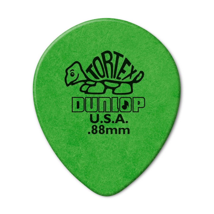 413R Tortex Tear Drop Green .88
