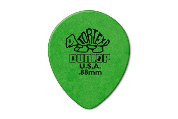 Dunlop - 413R Tortex Tear Drop Green .88