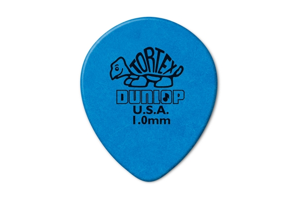 Dunlop - 413R Tortex Tear Drop Blue 1.0