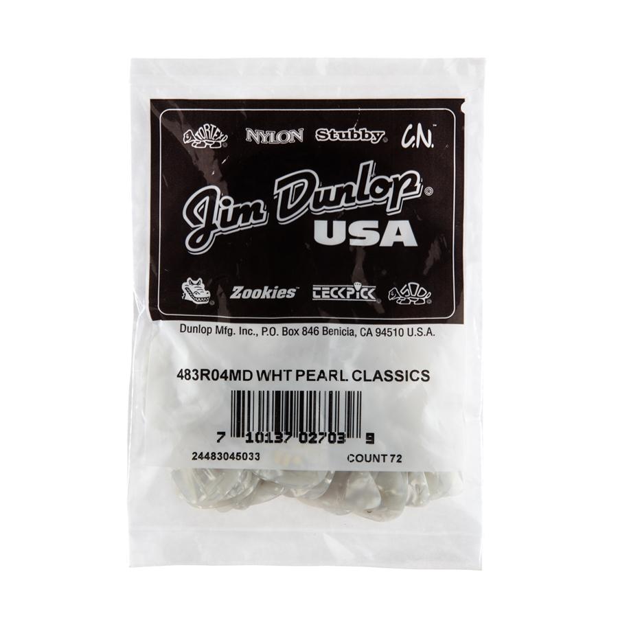 Dunlop 483R#04 White Perloid - Medium