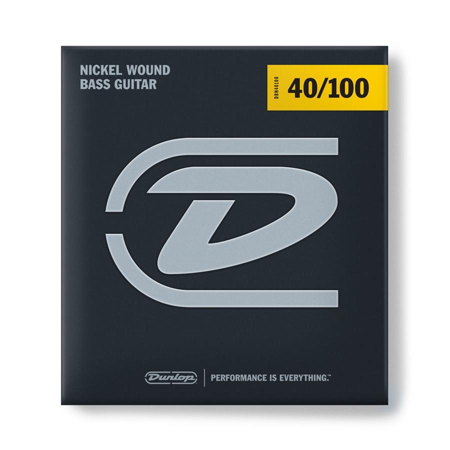 Corde per basso Dunlop Nickel Wound 40 – 100 Light Set /4 DBN40100