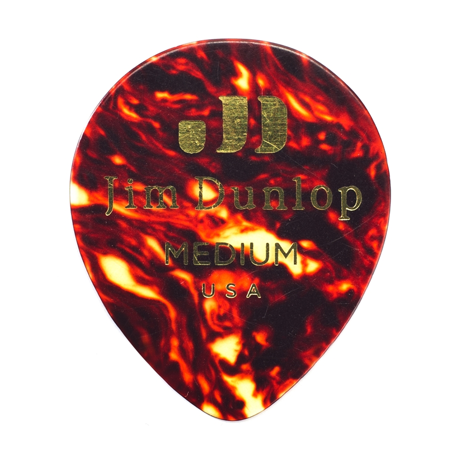 485P-03TH Celluloid Teardrop, Black Thin Player's Pack/12
