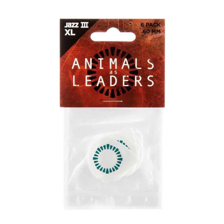 AALP03 Animal As Leaders Tortex Jazz III XL, White .60mm Player's Pack/6