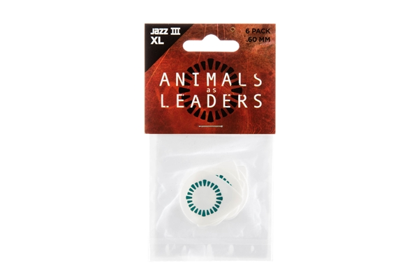 Dunlop - AALP03 Animal As Leaders Tortex Jazz III XL, White .60mm Player's Pack/6