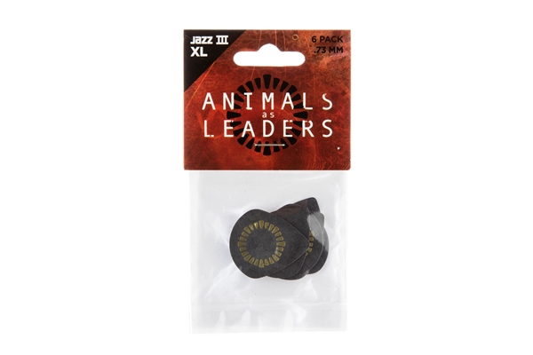 Dunlop - AALP04 Animal As Leaders Tortex Jazz III XL, Black .73mm Player's Pack/6