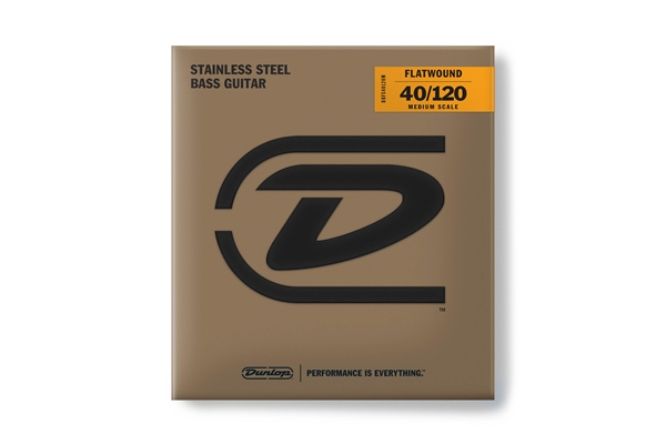 Dunlop - DBFS40120M Corde basso Flatwound Light Scala media Set/5