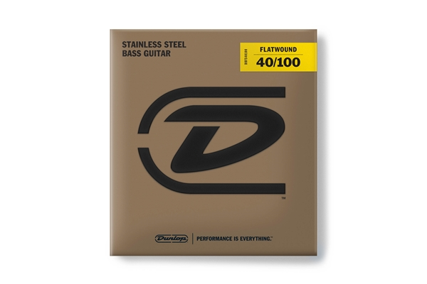 Dunlop - DBFS40100 Flatwound Light Scala lunga Set/4