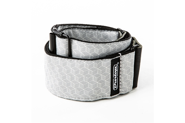 Dunlop - D67-12 Tracolla Jacquard Cube Hatch Light Grey