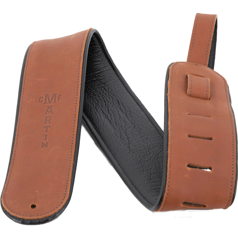 Martin 18A0028 Tracolla Rolled Leather, Brown