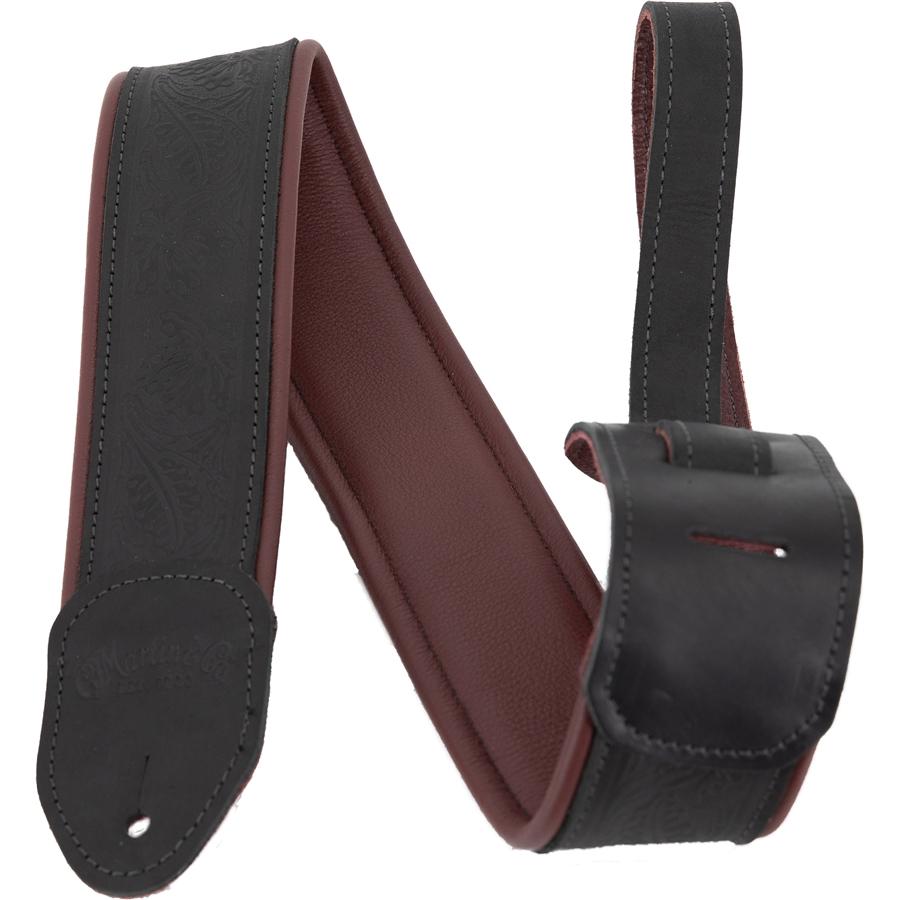 Martin 18A0080 Tracolla Garment Leather, Maroon/Black