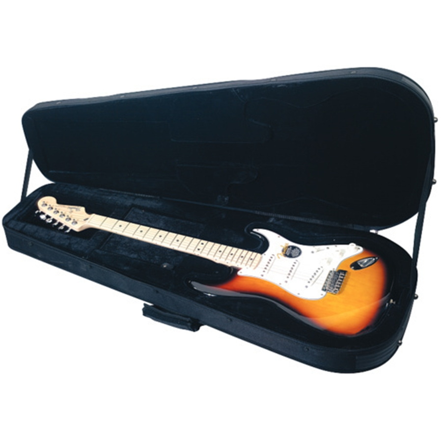 RC 20803 B Soft Light Case Deluxe per chitarra Strat Style, Black