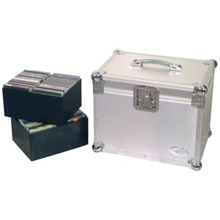 RC 27341 A DJ Fligh Case per 120 CD in Alluminio