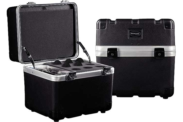 Rockbag - RC ABS 23212 B Case ABS per 12 Microfoni, Black