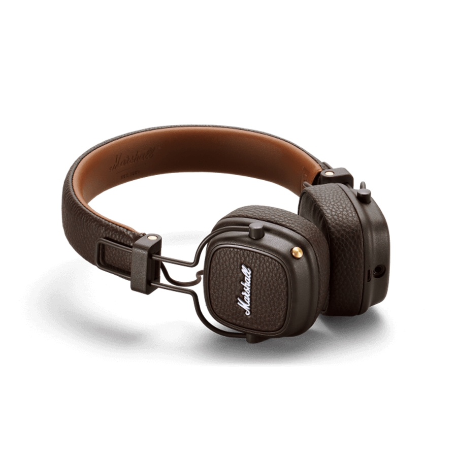 Marshall ACCS-00193 Cuffie Major III Bluetooth Brown