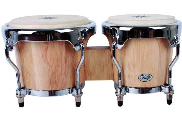 Natal  - Natural Wood Bongos Chrome Hw Matt Honey