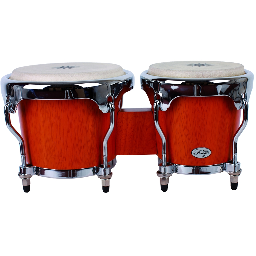 Natural Wood Bongos Chrome Hw Matt Natural