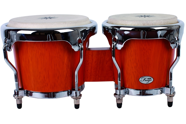 Natal  - Natural Wood Bongos Chrome Hw Matt Natural