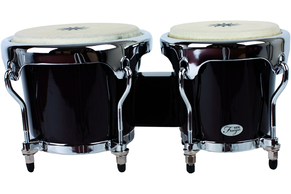 Natal  - Natural Wood Bongos Chrome Hw Black Gloss
