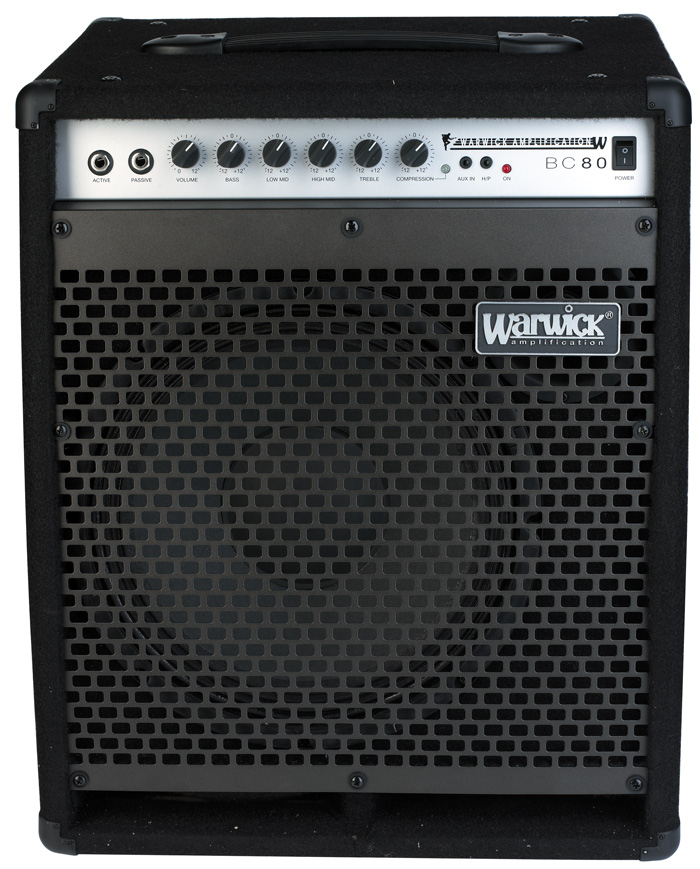 Blue Cab 80 Combo Bass Amp, passive and active inputs, 80 Watt, 12