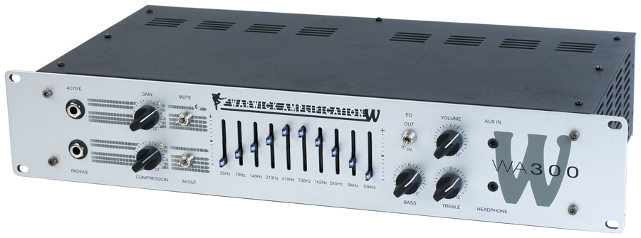 W Amp 300 Head - passive and active inputs, 300 Watt,