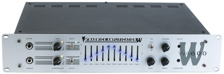 W Amp 600 Head - passive and active inputs, 600 Watt,