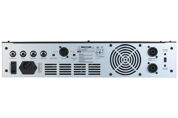 Warwick - W Amp 600 Head - passive and active inputs, 600 Watt,