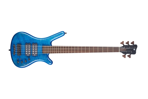 Warwick - Corvette $$ Bleached 5 Flametop Ocean Blue Oil Finish