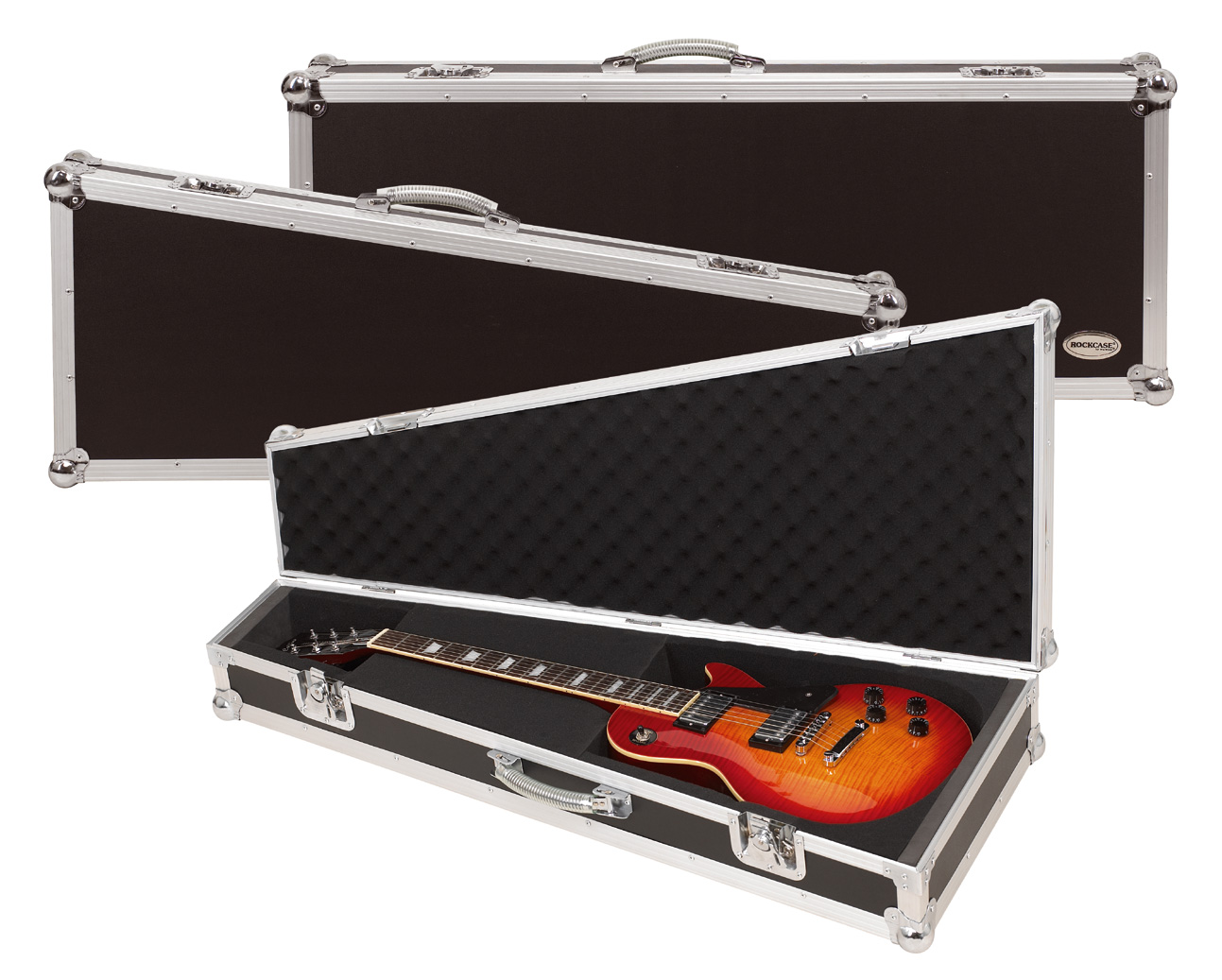 RC 10803 B Flight Case per chitarra ST Style, Black