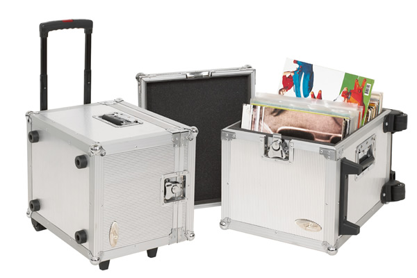 Rockgear - RC 27165 A DJ Flight Case Trolley per Vinili, 100 LP, Alluminio
