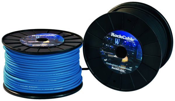 Rockbag - RCL 10511 D8 BL Cavo Speaker coassiale, Matassa 100m Blue