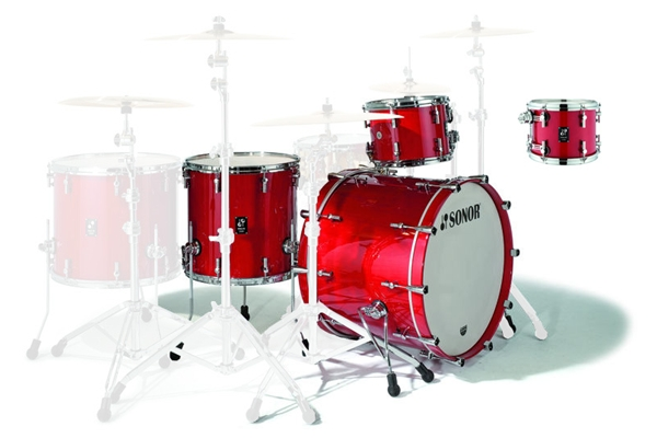 Sonor - PL 12 Stage 2 Shells NM - Ruby Red