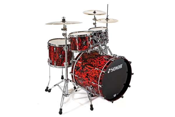 Sonor - PL 12 Stage 2 Shells NM - Red Tribal