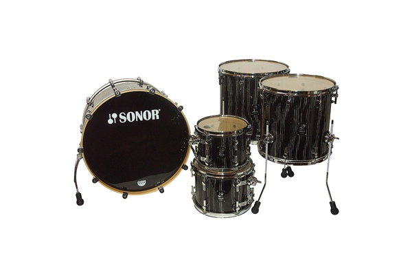 Sonor - PL 12 Stage 2 Shells NM - Ebony White Stripe