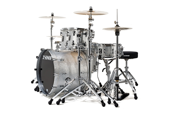 Sonor - PL 12 Stage 3 Shells NM - Silver Sparkle