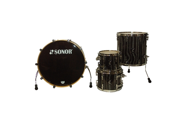 Sonor - PL 12 Stage 3 Shells NM - Ebony White Stripe