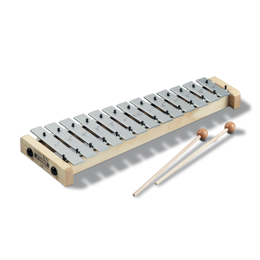 SG GB Soprano-Glockenspiel, c3-a4; 1 pair SCH 40; Global Beat