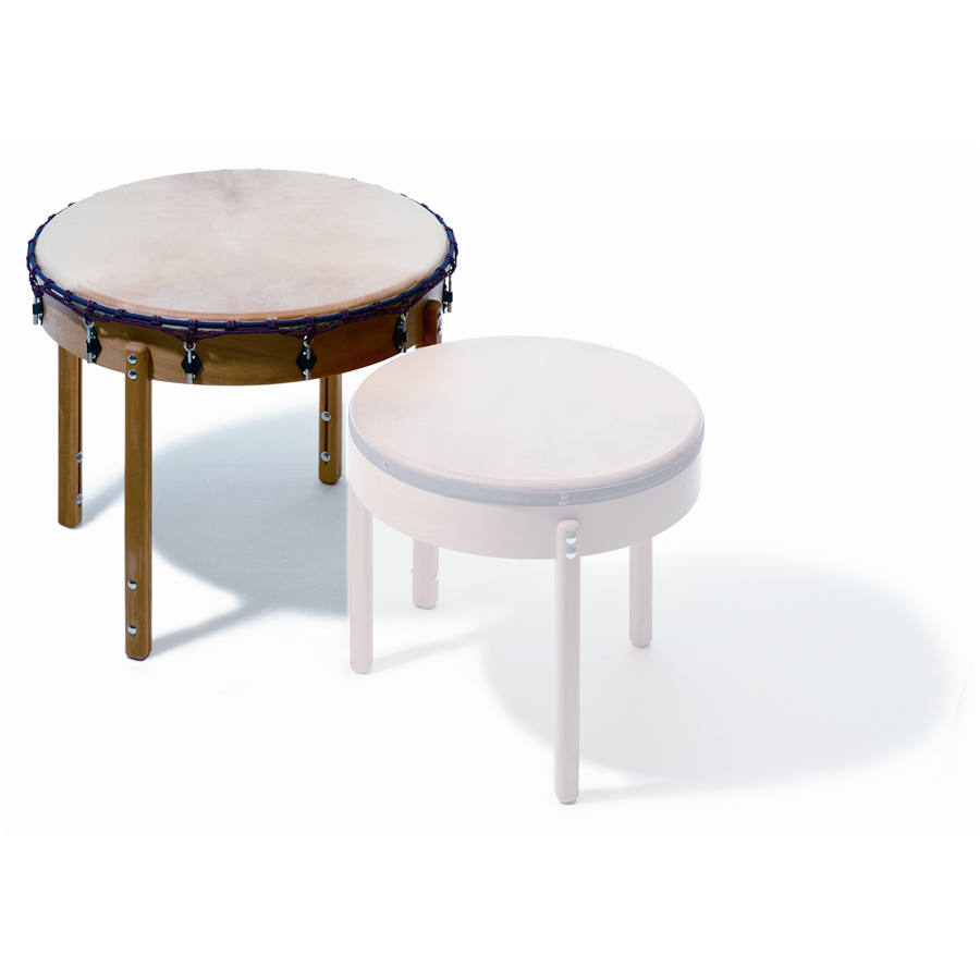 T 90 Table Drum, 90 cm dia., altezza: 78 cm,  pino massello, pelle naturale