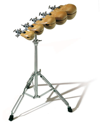 Sonor - L 2611 Templeblocks, Set di 5 blocks con stand e 1 paio Battenti